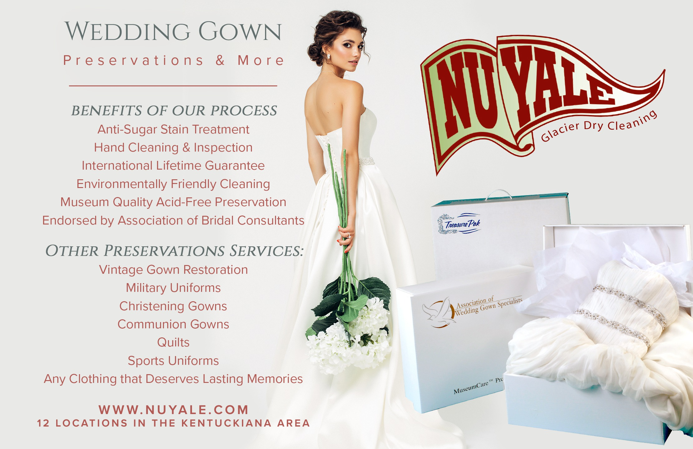 Wedding Gown Preservation Lifetime Guarantee Dress Cleaning